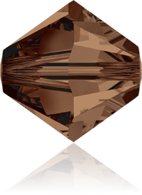 5301/5328 - 8mm Swarovski Bicone Crystal Bead - Smoked Topaz