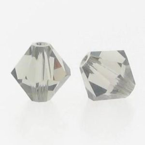 5301/5328 - 6mm Swarovski Bicone Crystal Bead - Black Diamond