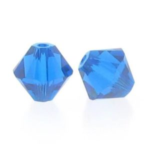 5301/5328 - 6mm Swarovski Bicone Crystal Bead - Capri Blue