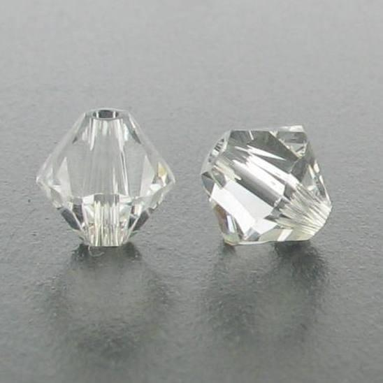 5301/5328 - 6mm Swarovski Bicone Crystal Bead - Crystal