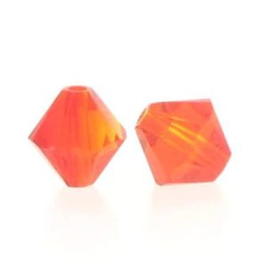 5301/5328 - 6mm Swarovski Bicone Crystal Bead -Fire Opal