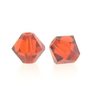 5301/5328 - 6mm Swarovski Bicone Crystal Bead -Indian Red
