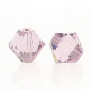 5301/5328 - 6mm Swarovski Bicone Crystal Bead - Light Amethyst
