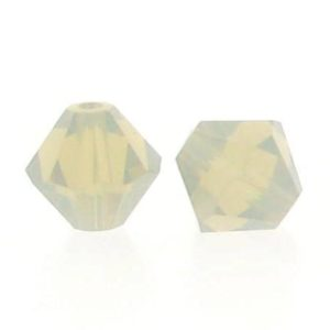 5301/5328 - 6mm Swarovski Bicone Crystal Bead -Light Grey Opal