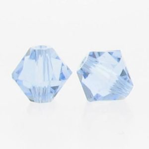5301/5328 - 6mm Swarovski Bicone Crystal Bead - Light Sapphire