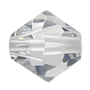 5301/5328 - 4mm Swarovski Bicone Bead - Shadow Crystal