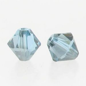 5301/5328 - 6mm Swarovski Bicone Crystal Bead - Aquamarine Satin