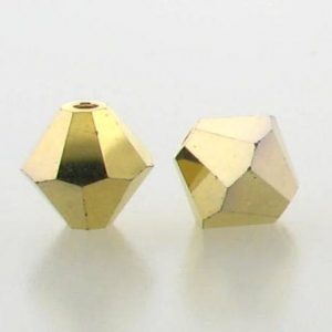 5301/5328 - 6mm Swarovski Bicone Crystal Bead - Aurum AB2X