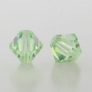 5301/5328 - 6mm Swarovski Bicone Crystal Bead - Chrysolite AB
