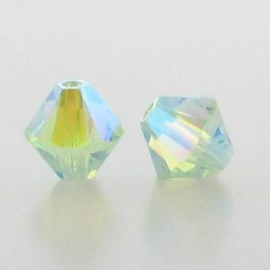 5301/5328 - 6mm Swarovski Bicone Crystal Bead - Chrysolite AB2X