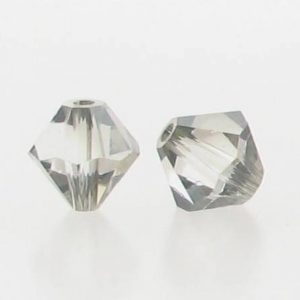 5301/5328 - 6mm Swarovski Bicone Crystal Bead - Crystal Satin