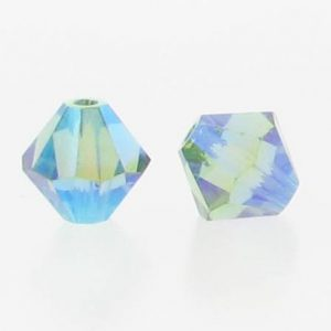 5301/5328 - 6mm Swarovski Bicone Crystal Bead - Erinite AB2X