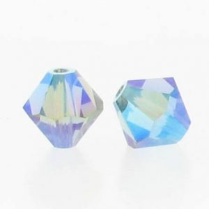 5301/5328 - 6mm Swarovski Bicone Crystal Bead - Indian Sapphire AB2X