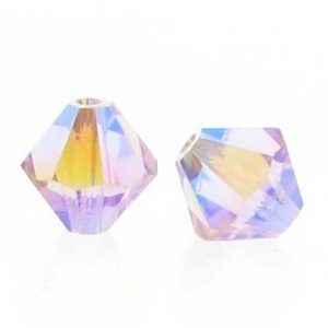 5301/5328 - 6mm Swarovski Bicone Crystal Bead - Light Amethyst AB2X