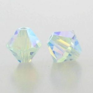 5301/5328 - 6mm Swarovski Bicone Crystal Bead - Light Azore AB2X
