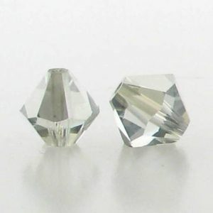 5301/5328 - 6mm Swarovski Bicone Crystal Bead - Light Azore Satin