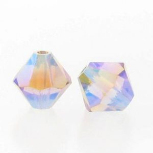 5301/5328 - 6mm Swarovski Bicone Crystal Bead - Light Col.Topaz AB2X