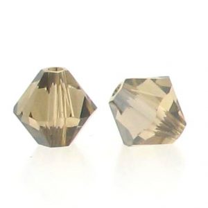 5301/5328 - 6mm Swarovski Bicone Crystal Bead - Light Colo. Topaz Satin