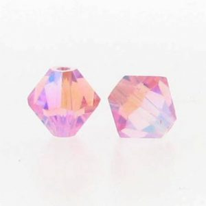 5301/5328 - 6mm Swarovski Bicone Crystal Bead - Light Rose AB2X