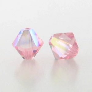 5301/5328 - 6mm Swarovski Bicone Crystal Bead - Light Rose AB
