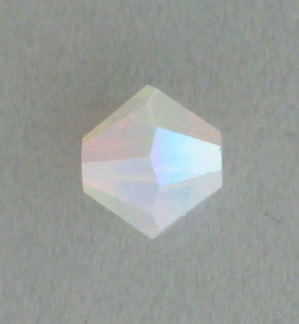 5301/5328 - 4mm Swarovski Bicone Bead - White Opal Satin